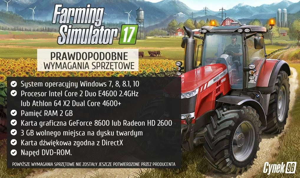 Farming Simulator 2017 System Requirements for PC - Farming