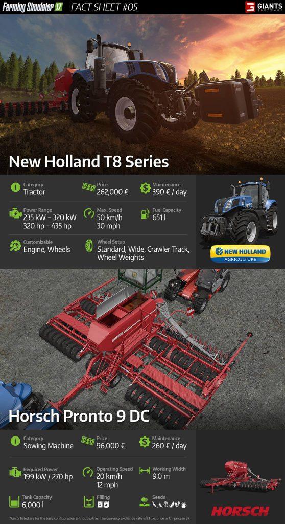 FS 17: New Holland T8 and Horsch Pronto 9 DC - FactSheet #5 | FS 17 mods