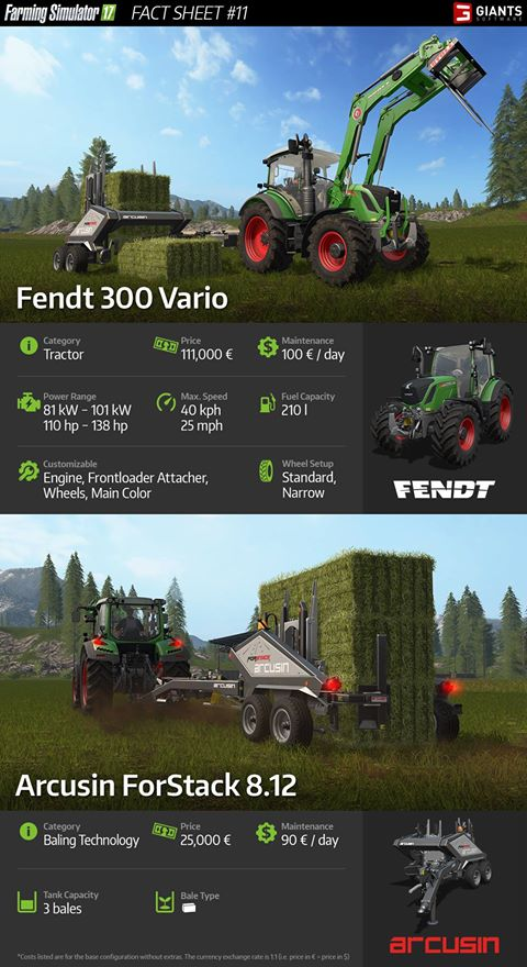 landwirtschafts simulator 2017 fendt 300 vario and arcusin forstack farming simulator 17. Black Bedroom Furniture Sets. Home Design Ideas