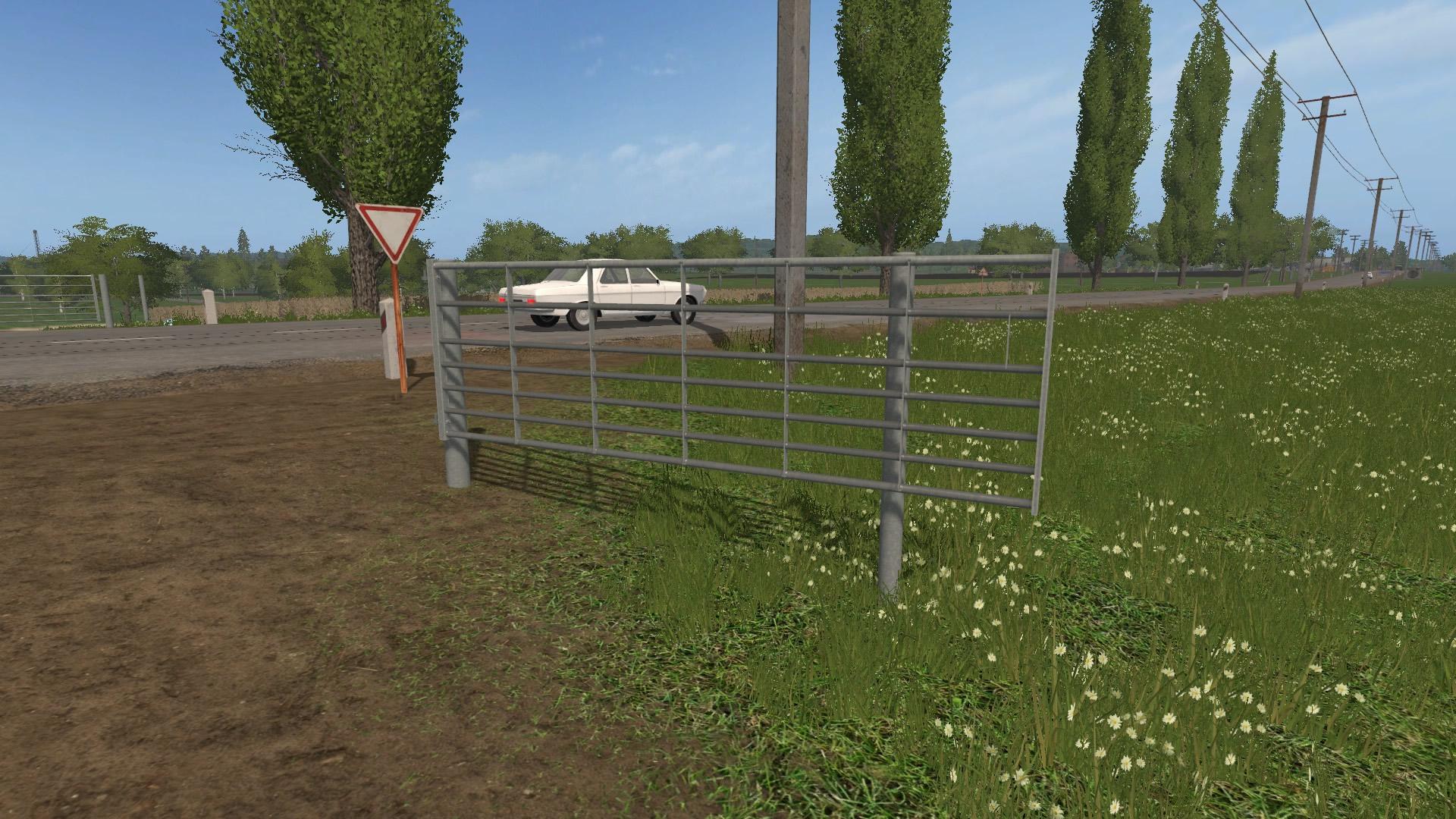 Animated Seven Bar Galvanized Gates Fs17 Farming