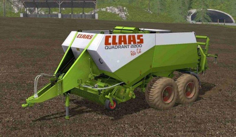 CLAAS QUADRANT 2200 ROTO CUT TRAILER - Farming Simulator 17 mod / FS