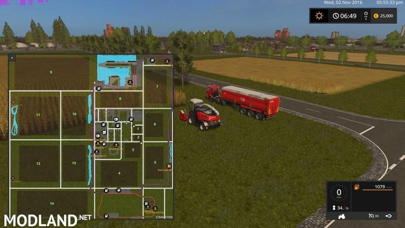 Canadian National Map V 3 Fs 17 Farming Simulator 17 Mod