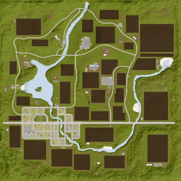Central Valley V 1 8 FS 17 - Farming Simulator 17 mod / FS