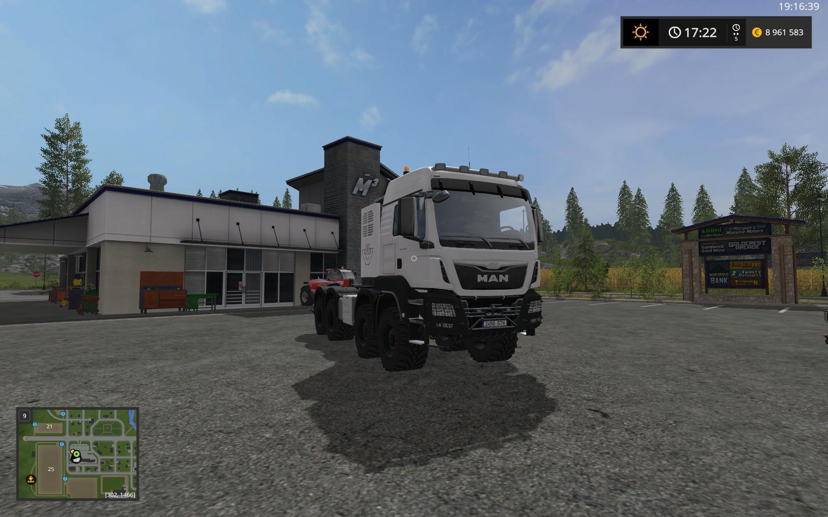 MAN TGS 4157 8X8 V2 TRUCK - Farming Simulator 17 mod / FS