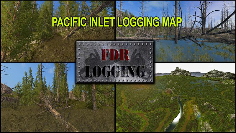 PACIFIC INLET LOGGING MAP V FS Farming Simulator Mod FS - Fs 17 us map