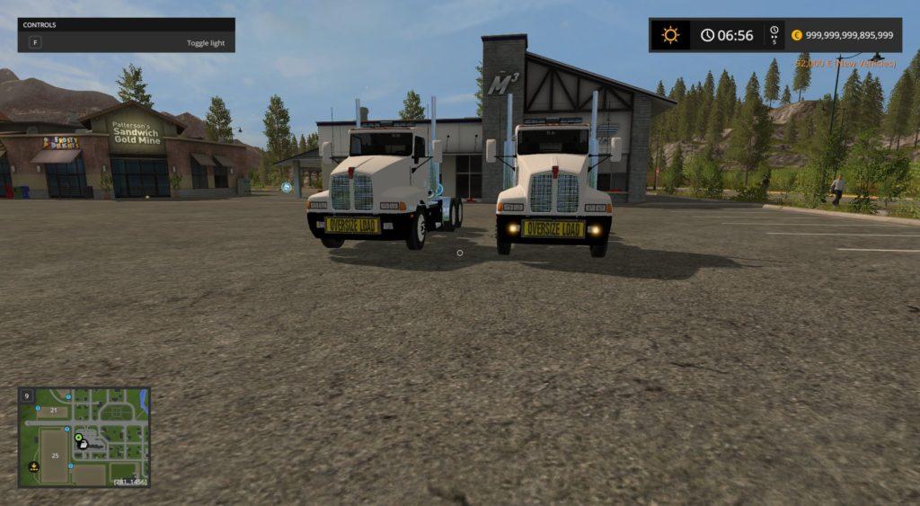 Kenworth T600 Oversize Load And Led Lights Fs 17 Farming