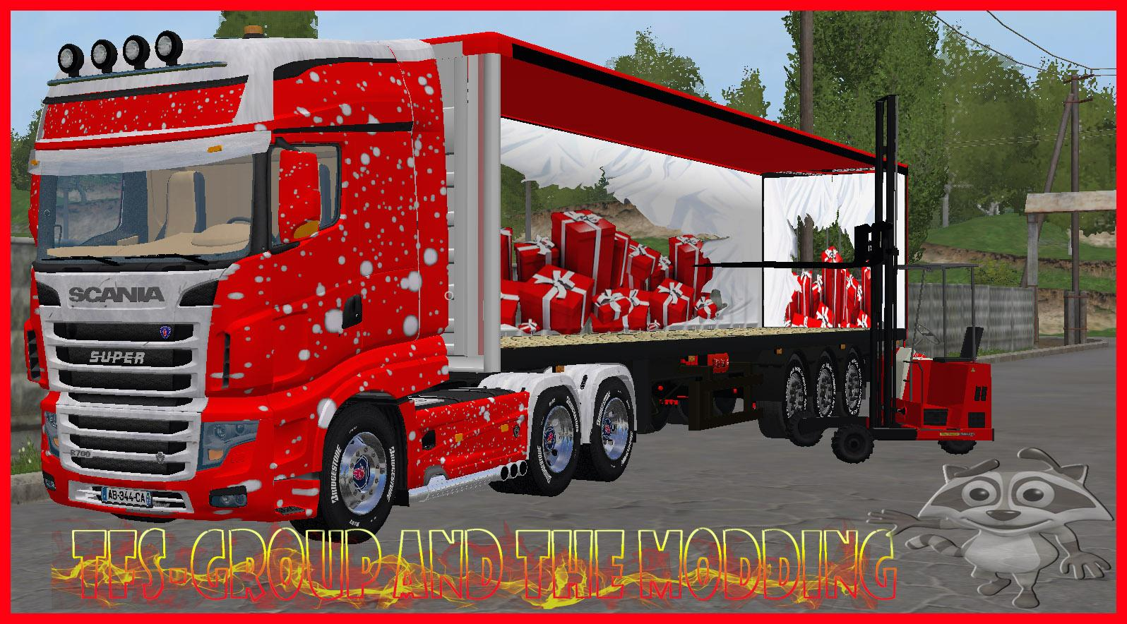 MERRY CHRISTMAS TRUCK TFSGROUP FS17 - Farming Simulator 17 mod / FS ...