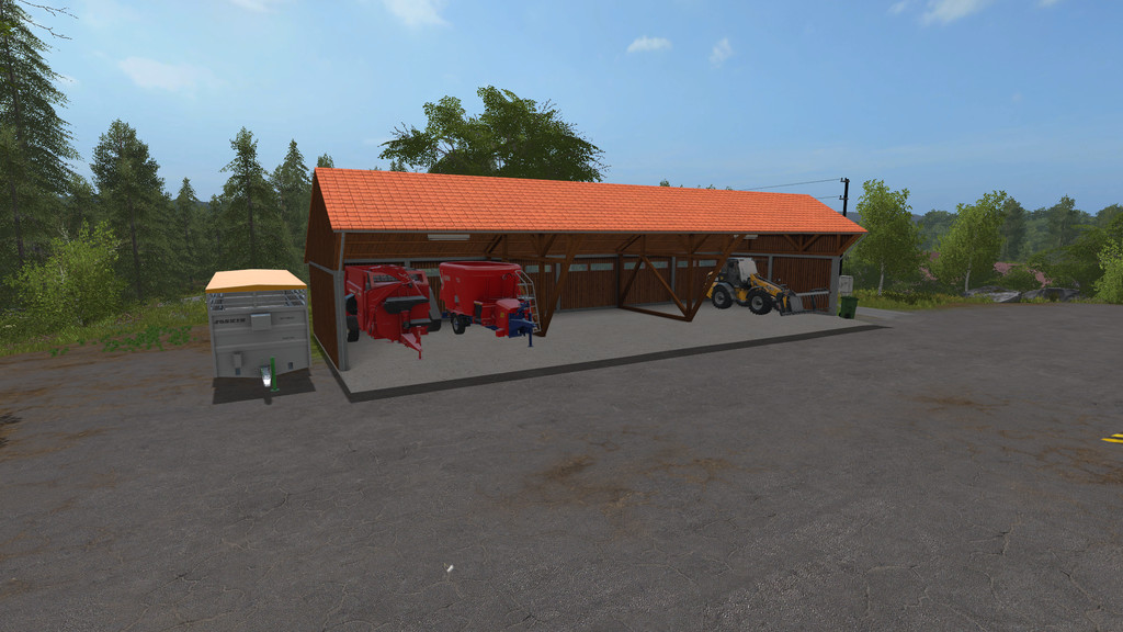 Farm Equipment Shelters : Machinery shelter with lighting ls farming simulator