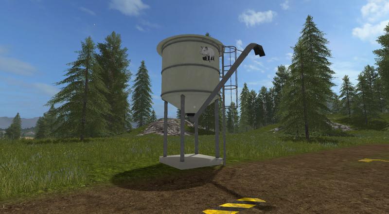 pig feed silo v 1 fs17 farming simulator 17 mod fs. Black Bedroom Furniture Sets. Home Design Ideas