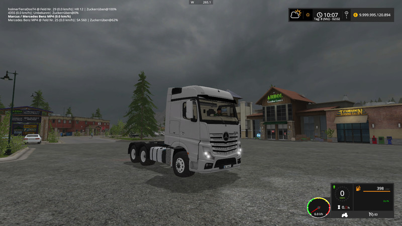 Mercedes Benz Trucks >> Mercedes Benz Actros MP4 V 1 FS17 - Farming Simulator 17 mod / FS 2017 mod