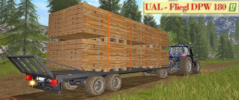 UAL Fliegl DPW 180 / boards pallet V 1 1 FS17 - Farming Simulator 17