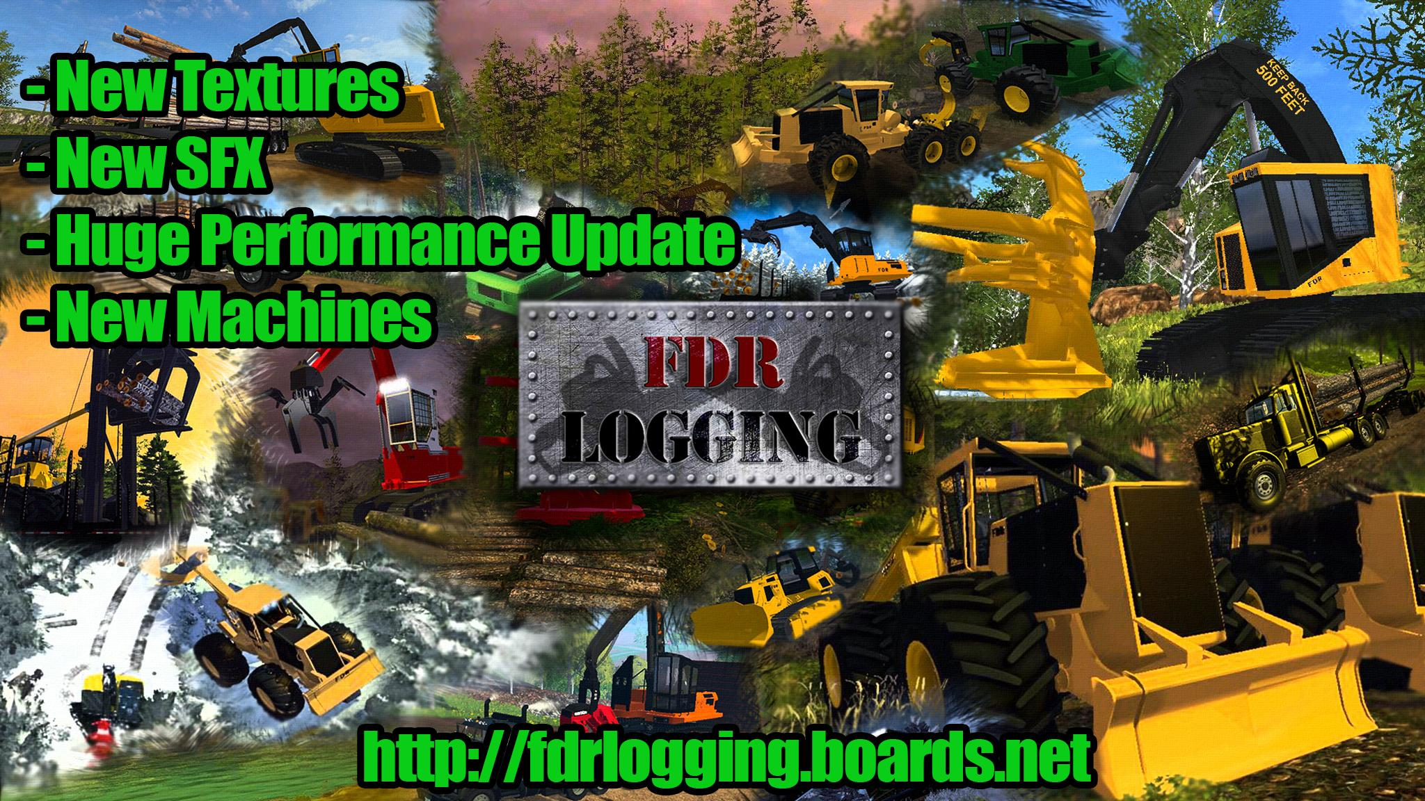 FDR LOGGING - FORESTRY EQUIPMENT V5 FS17 - Farming Simulator 17 mod