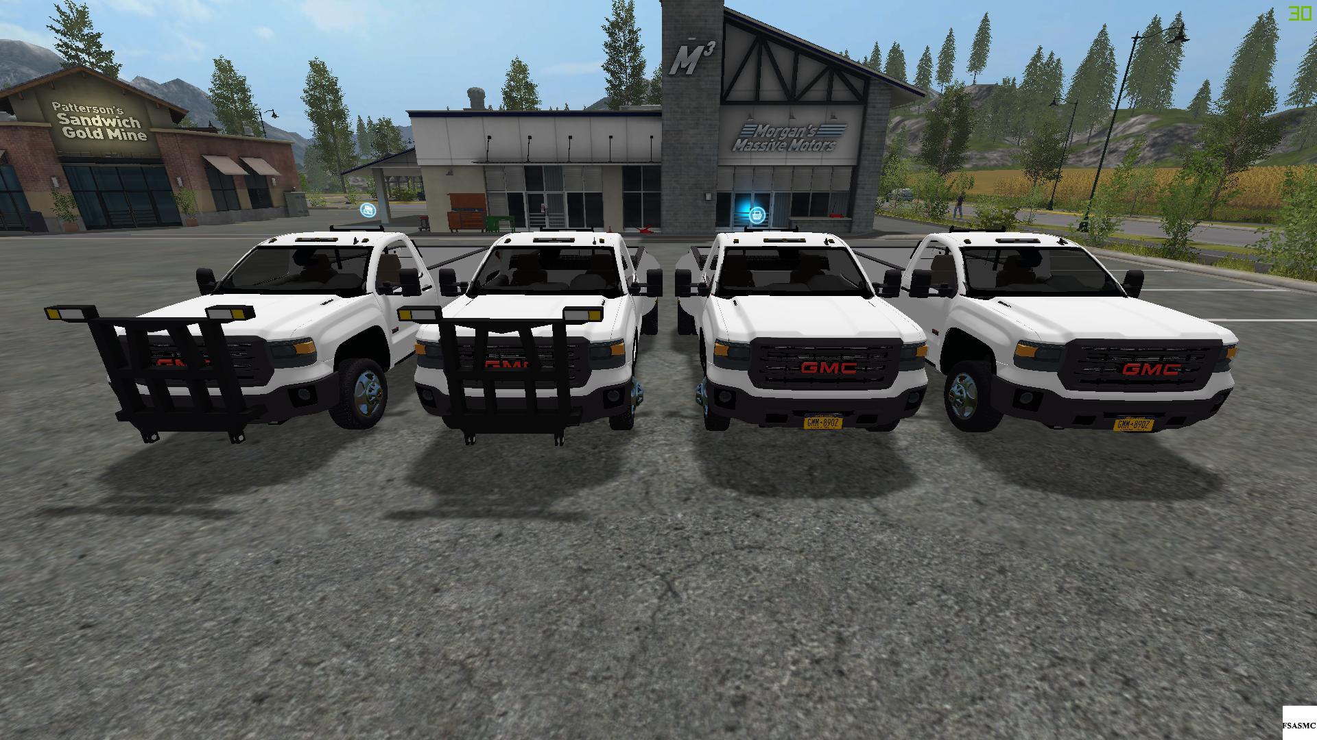 Gmc Sierra 3500hd Dually With Plows V1 Fs17 Farming Simulator 17 3500