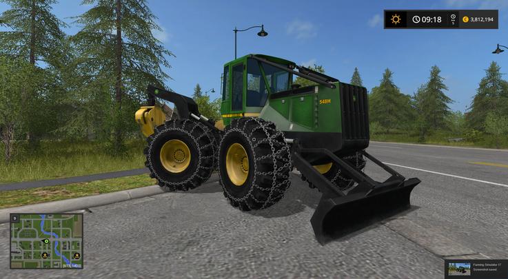JD548 LOG SKIDDER FS17 - Farming Simulator 17 mod / FS 2017 mod