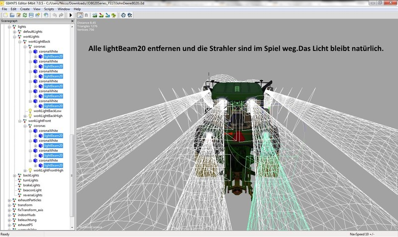 John Deere 8020 Serie V 2 0 FS17 - Farming Simulator 17 mod