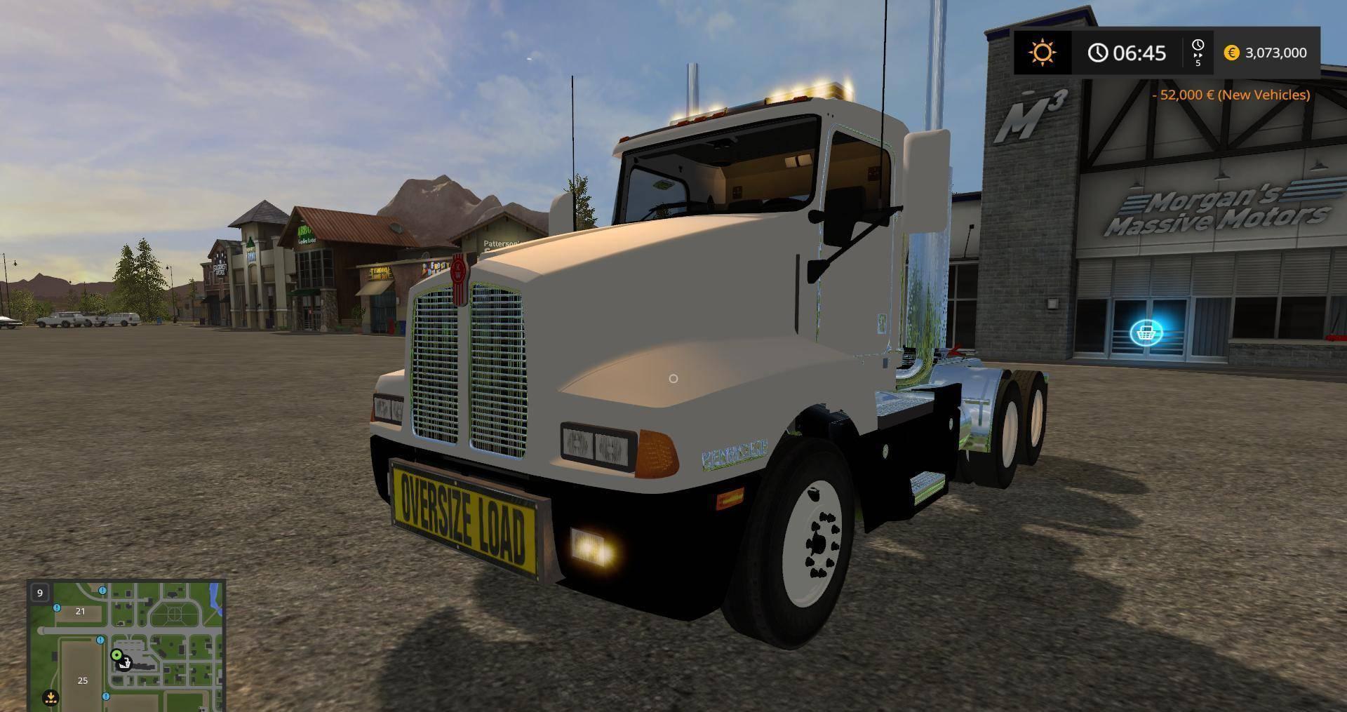 KW T OVERSIZE LOAD AND LED LIGHTS v2 FS Farming Simulator
