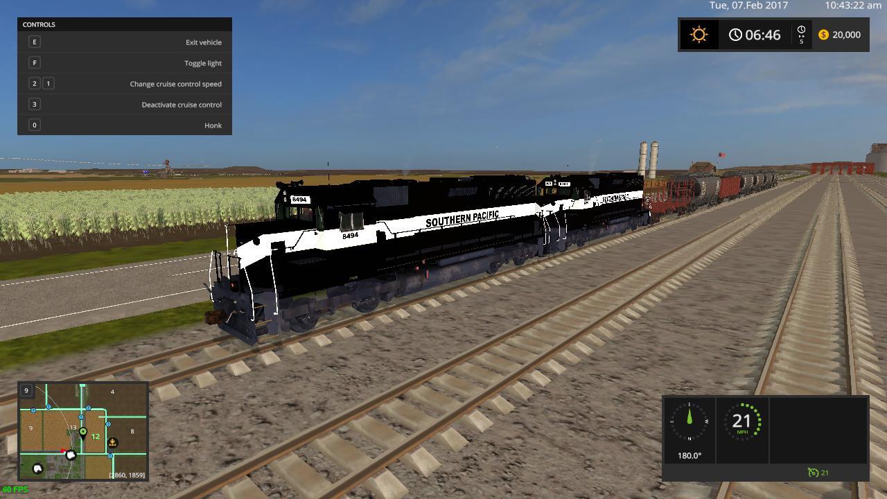 SOUTHERN PACIFIC TRAIN V1 FS17 - Farming Simulator 17 mod ...