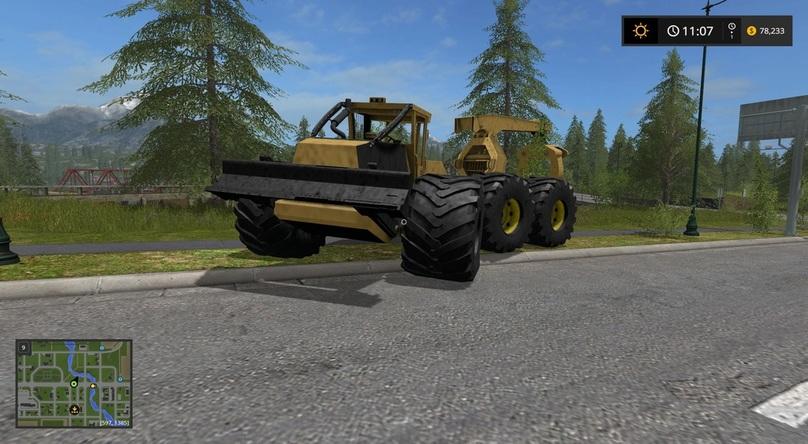 TIGER CAT LOG SKIDDER FS17 - Farming Simulator 17 mod / FS