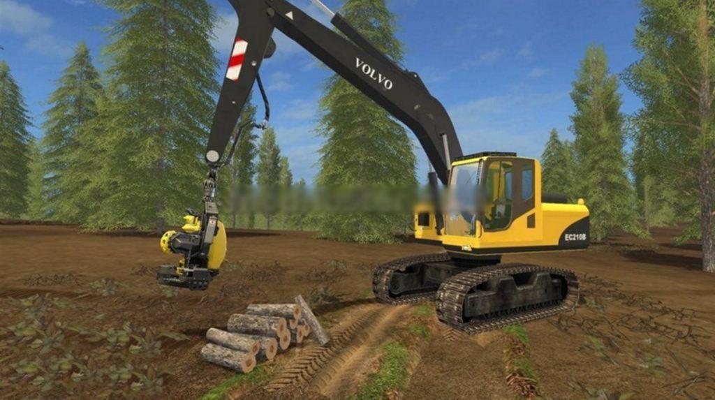 Volvo Ec210b Forest V 1 0 Fs17 Farming Simulator 17 Mod