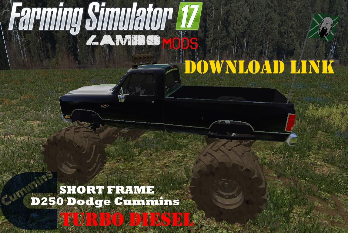 dodge cummins and chevy monster truck v1 0 fs17 farming. Black Bedroom Furniture Sets. Home Design Ideas