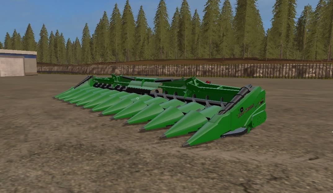 JOHN DEERE 612C CUTTER V1 0 FS17 - Farming Simulator 17 mod