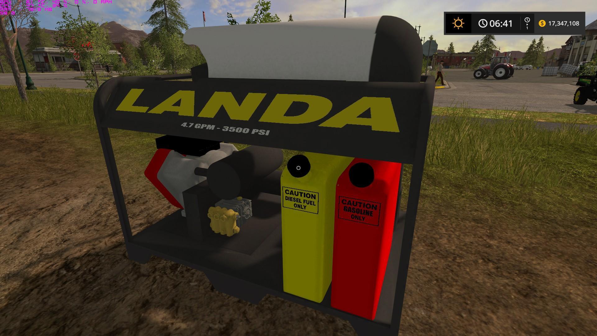Landa Placeable Pressure Washer V1 Fs17 Farming
