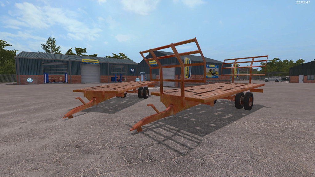 Lizard 20 Foot Bale Trailer FS17 - Farming Simulator 17 mod