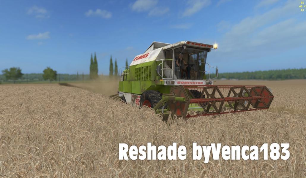 RESHADE BYVENCA183 – BETA V 1 1 FS 17 - Farming Simulator 17 mod