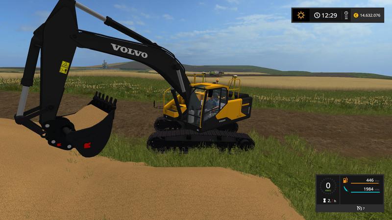 Volvo excavator EC300E V 1 0 FS17 - Farming Simulator 17 mod / FS