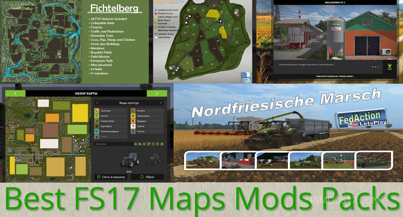 Best FS 17 Maps Mods Pack Collection For 2017!