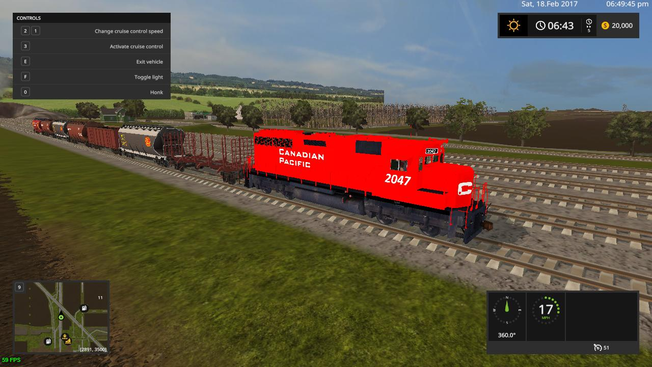 CANADIAN PACIFIC TRAIN V10 FS17 CANADIAN PACIFIC