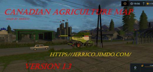 Canadian Agriculture map V 120 FS 17 Farming Simulator 17 mod