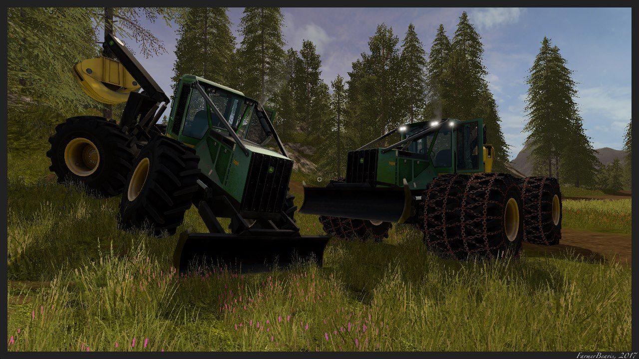 John Deere 748H V 1 0 FS17 - Farming Simulator 17 mod / FS