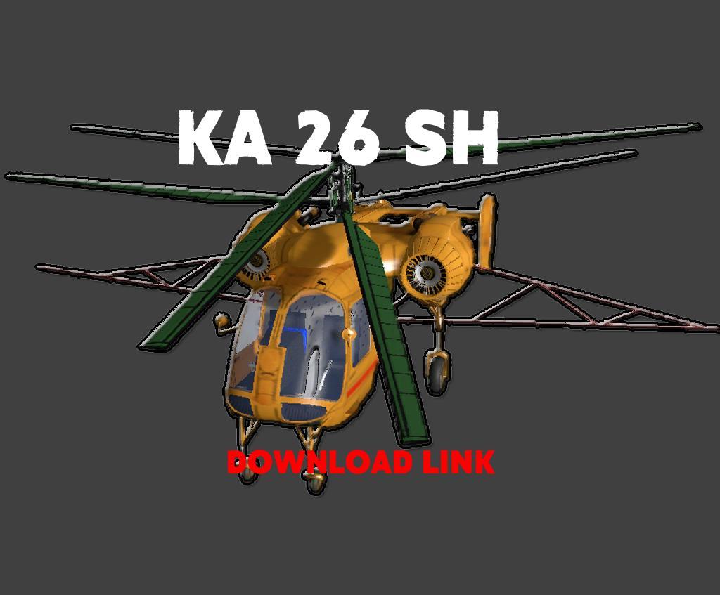 ka26sh helicopter v10 fs17 - Helicopter Mod