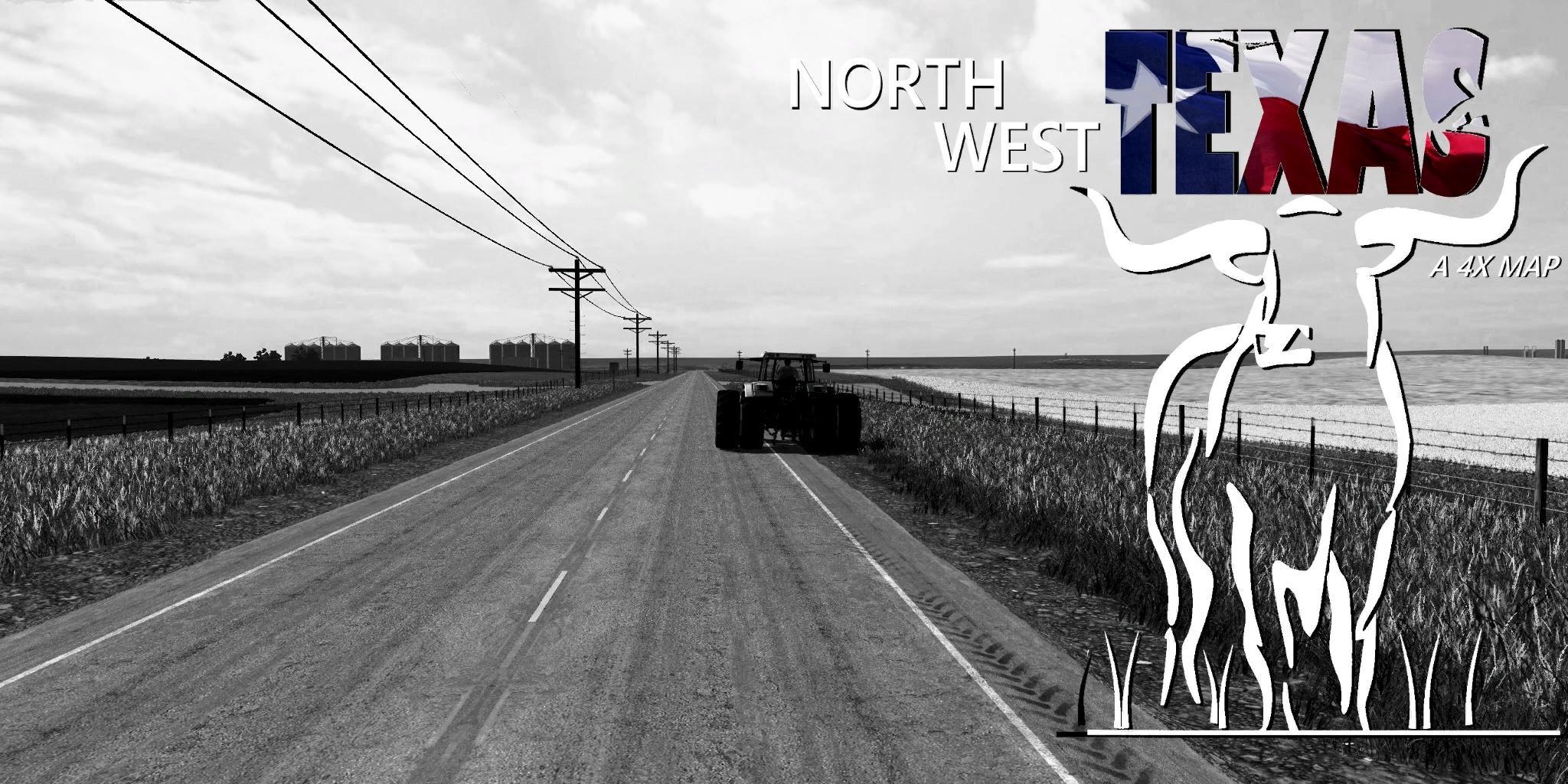 NORTH WEST TEXAS A 4X MAP FS17 - Farming Simulator 17 mod / FS 2017 on
