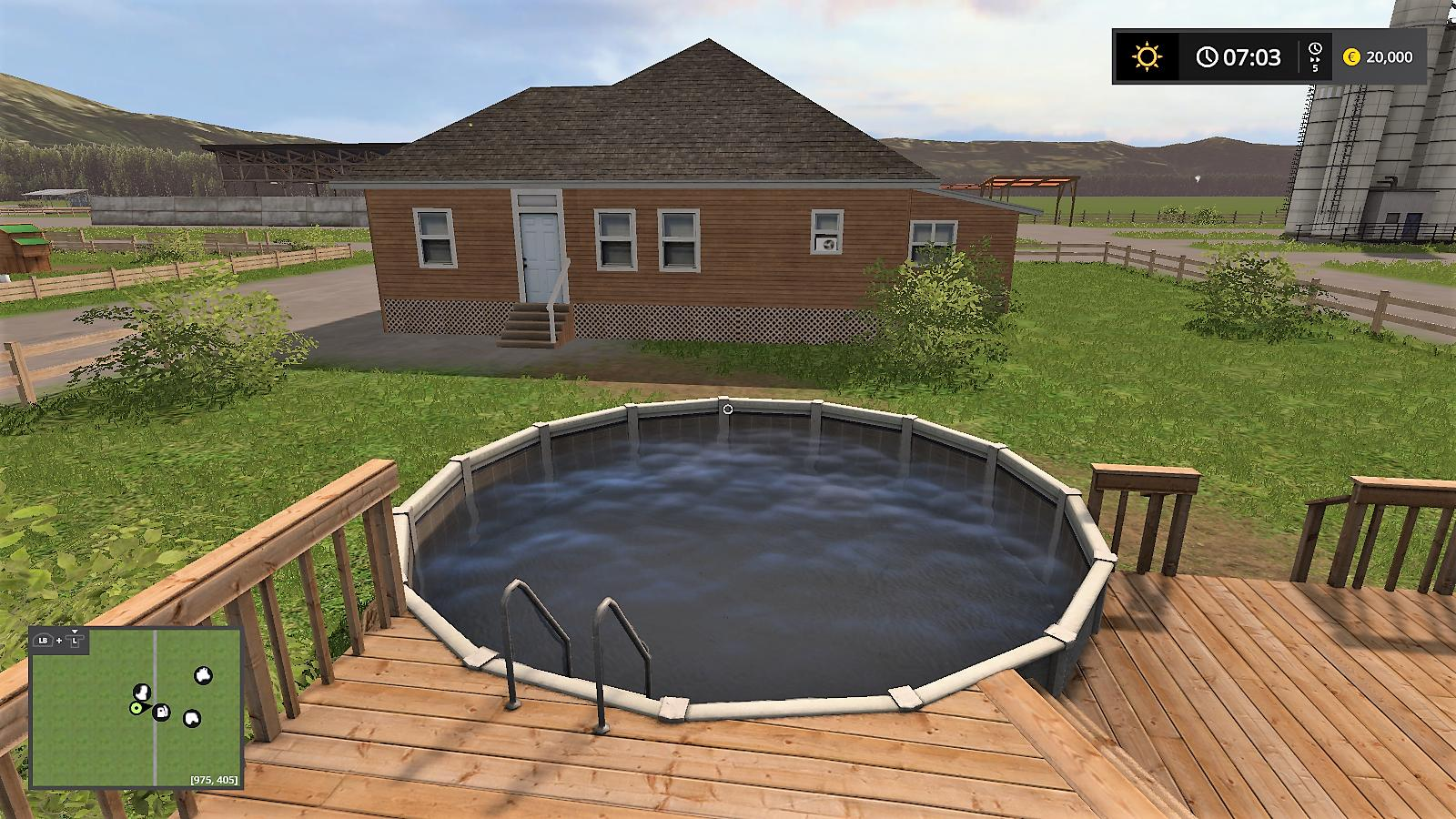 Above Ground Pool Deck V1 0 Fs17 Farming Simulator 17