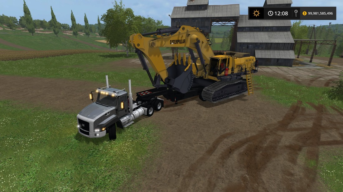 CAT EXCAVATOR FS17 - Farming Simulator 17 mod / FS 2017 mod