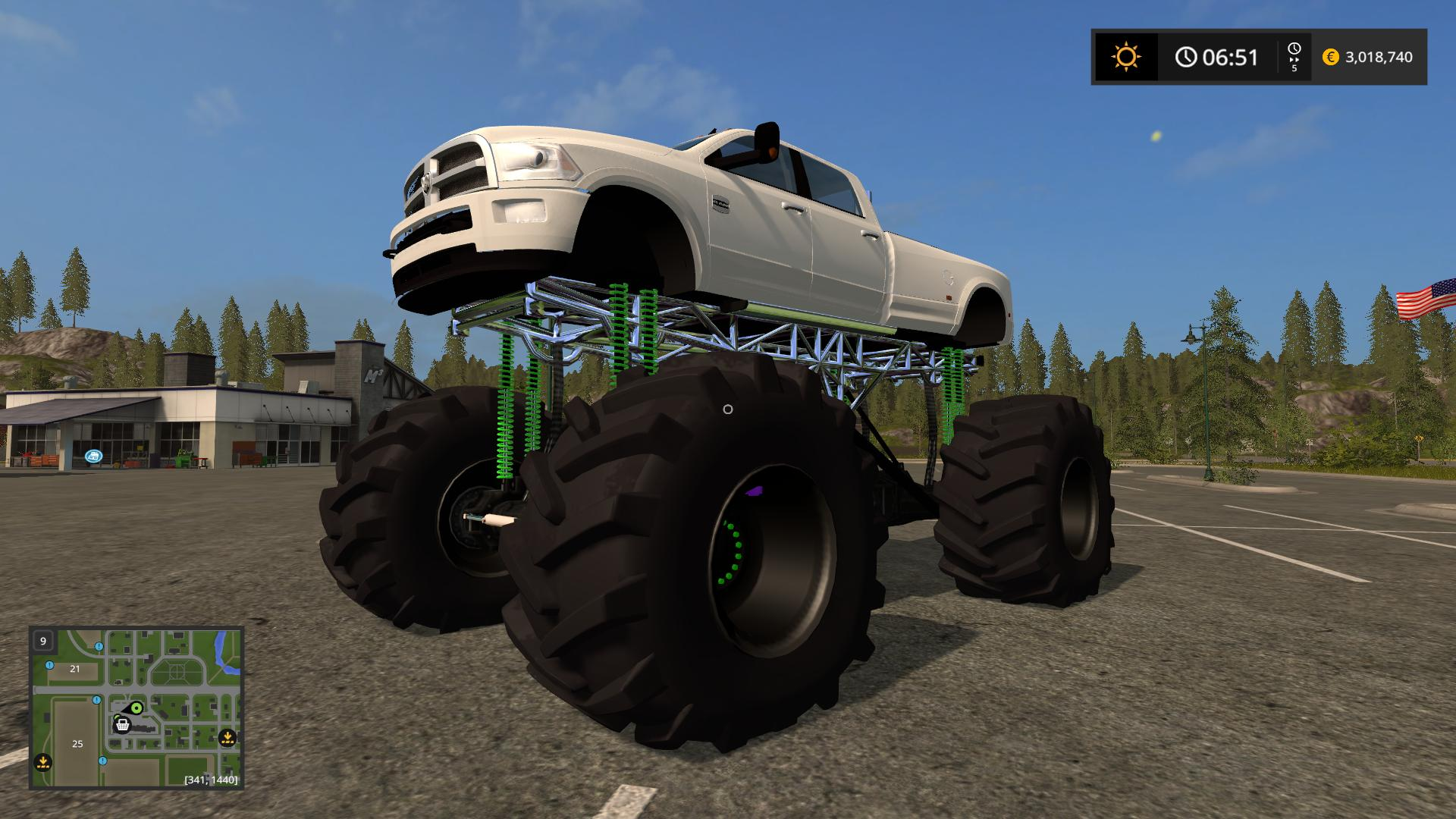 DODGE MUD TRUCK LIFTED V1.0 FS17 - Farming Simulator 17 ...