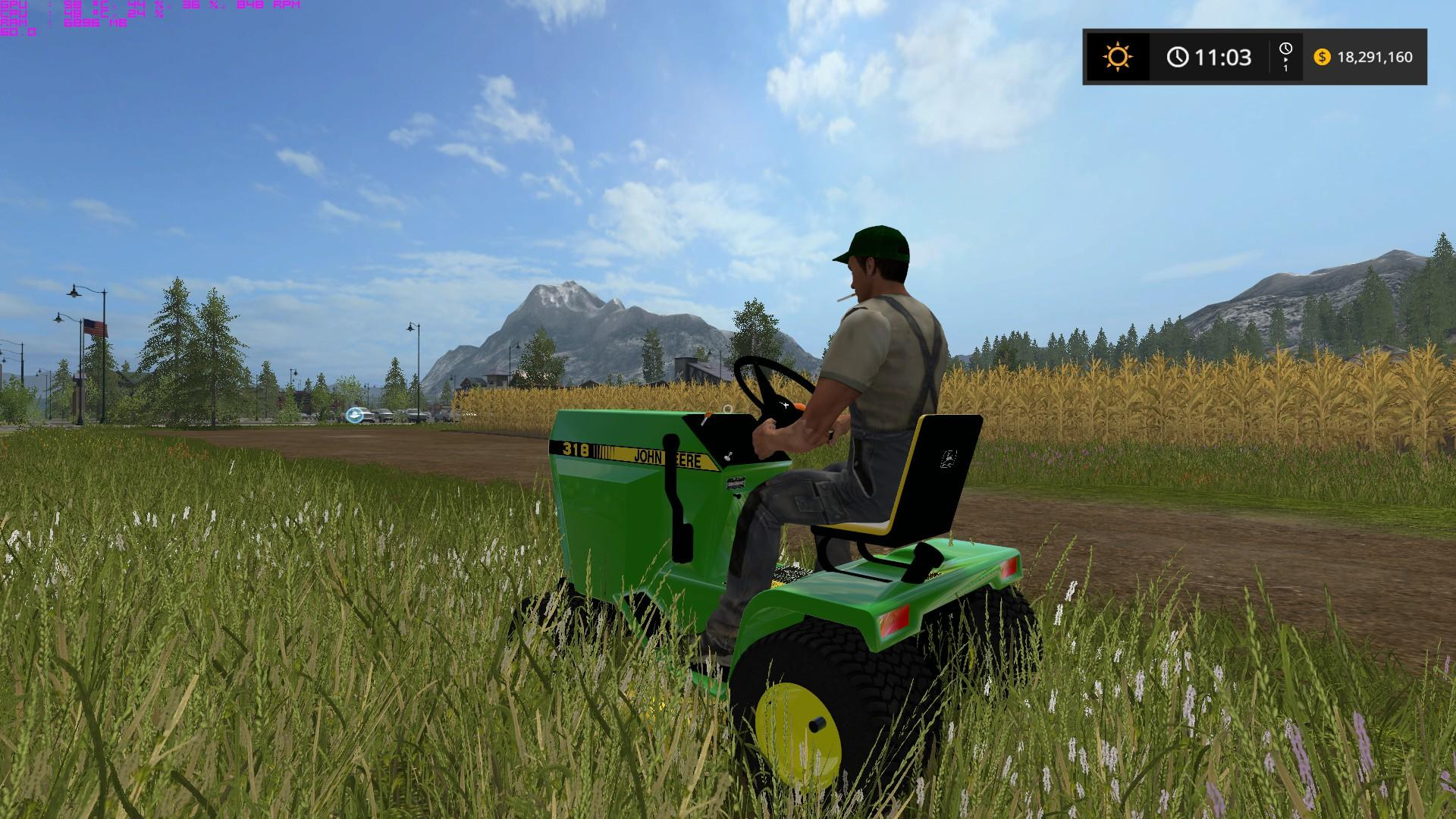 JOHN DEERE 318 V1 0 FS17 - Farming Simulator 17 mod / FS