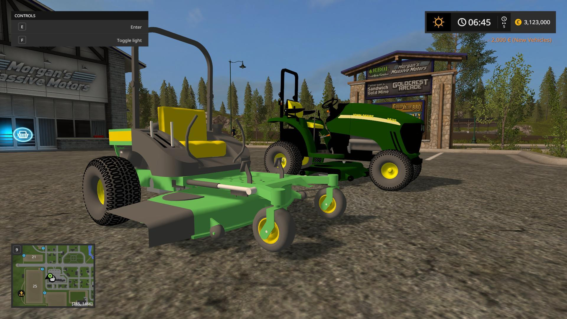 John deere 3520 and zero turn v1 0 fs17 farming for Chambre a air tracteur tondeuse