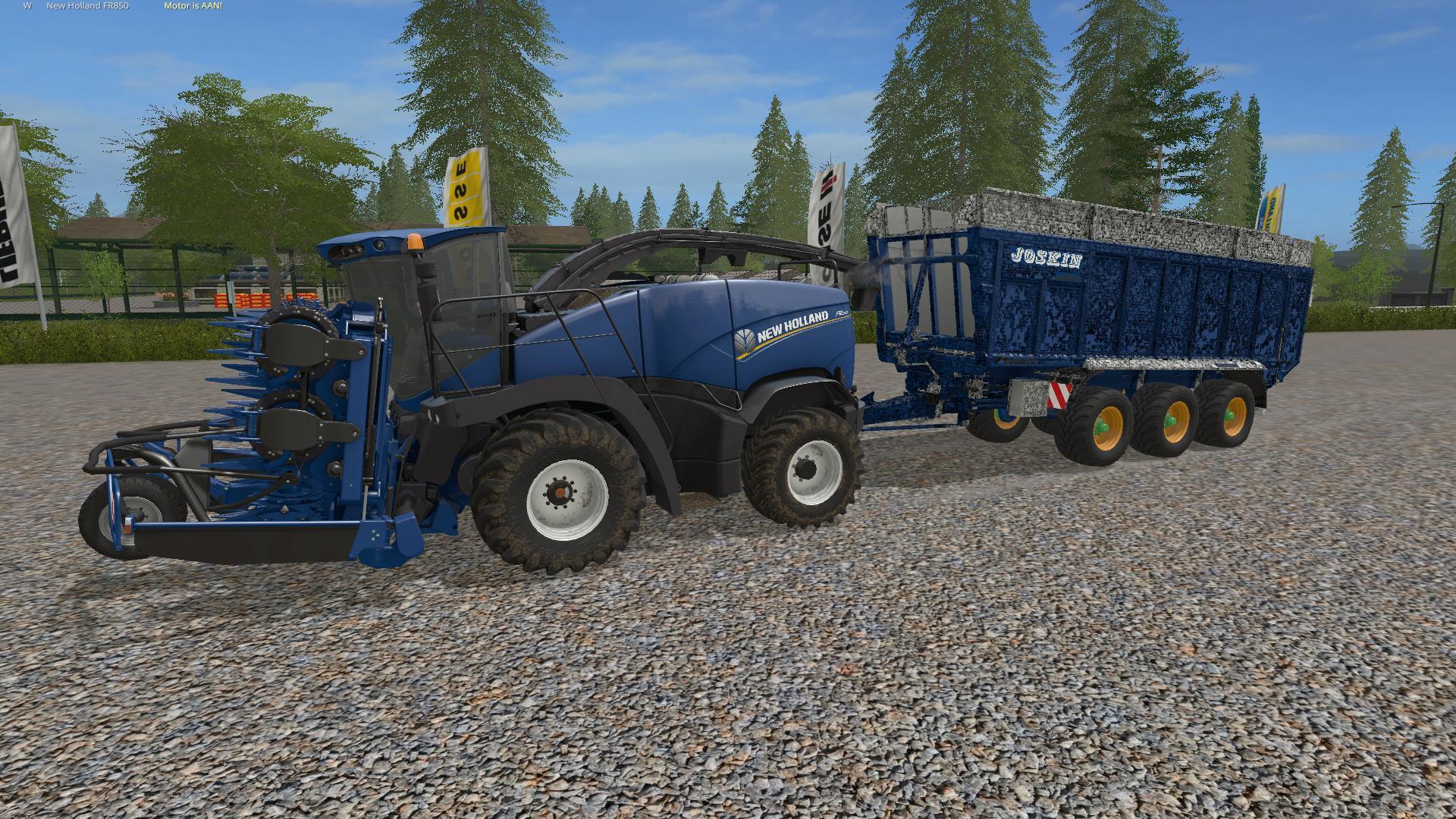 John Deere 8820 with header and trailer V 1 0 FS17 - Farming