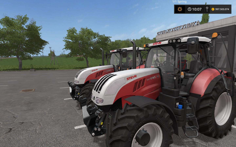 STEYR CVT TIER 4B V10 FS17  Farming Simulator 17 mod