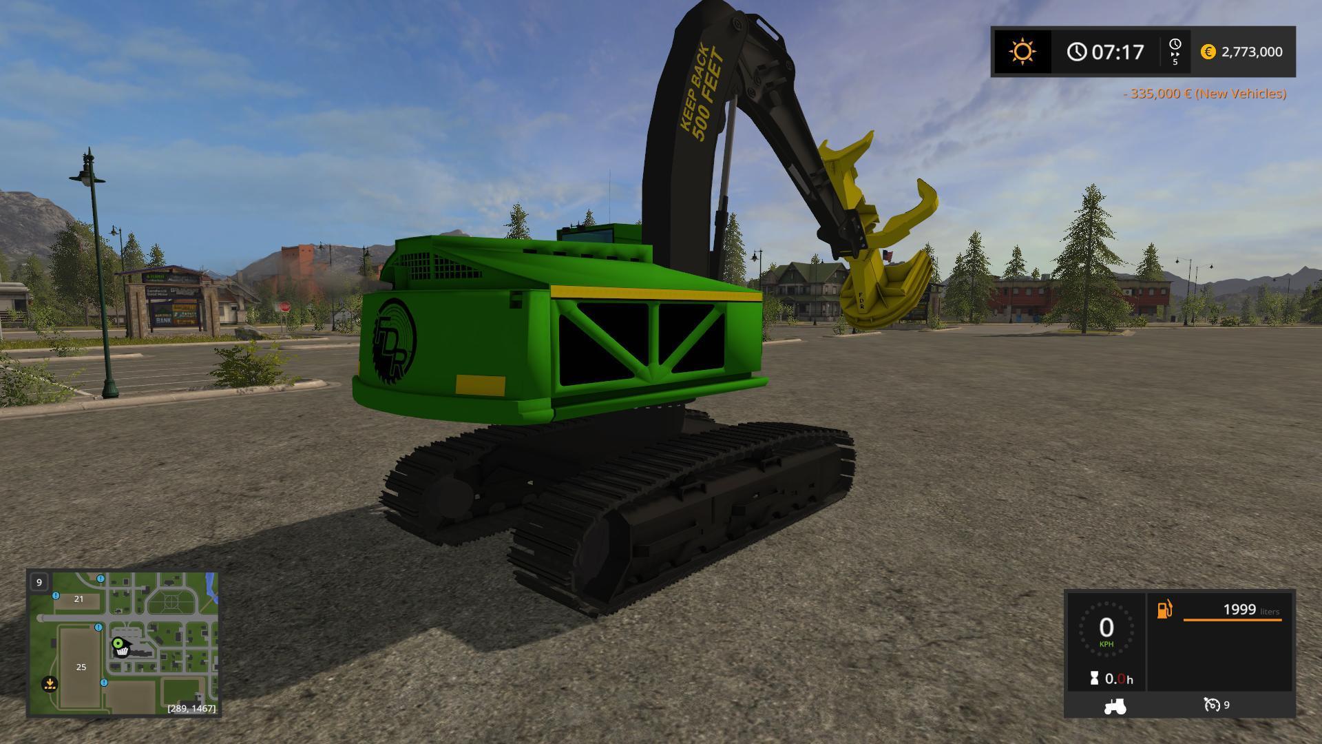 FELLER BUNCHER 909 V1 0 FS17 - Farming Simulator 17 mod / FS