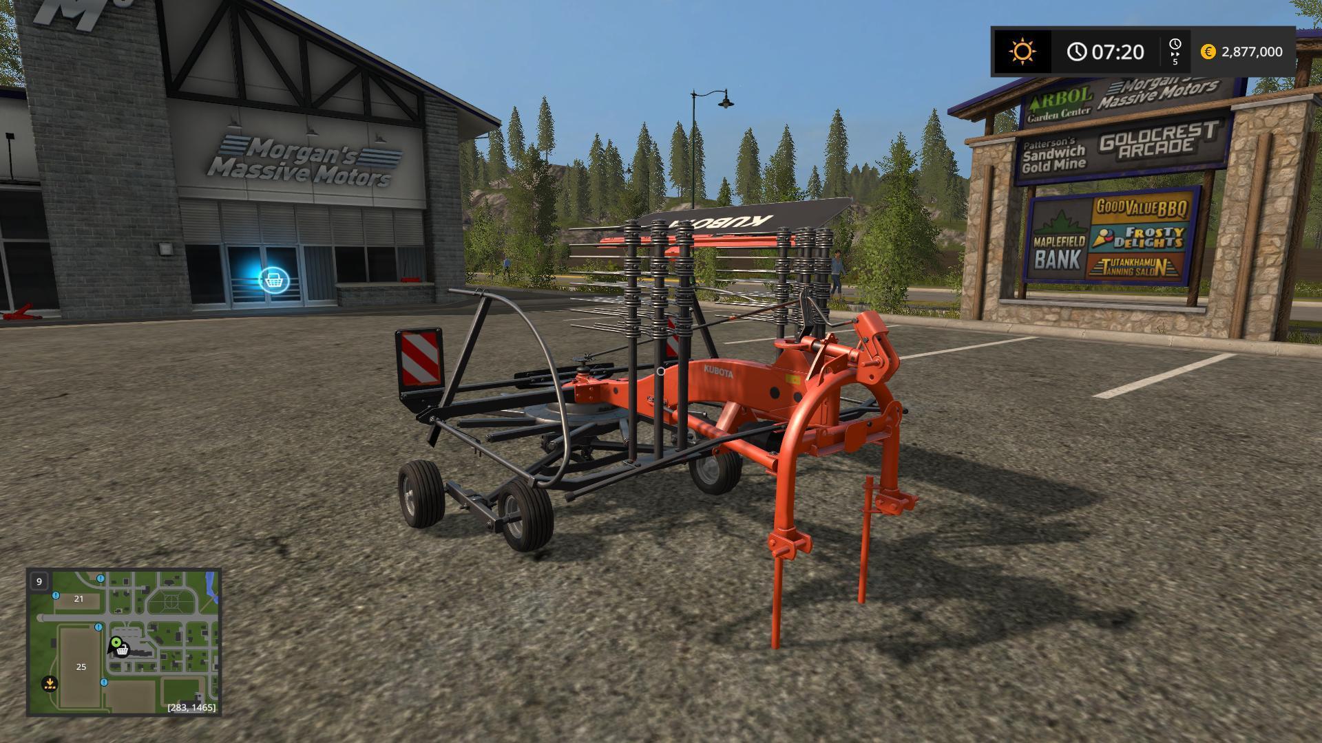 KUBOTA RA 1043 V1.1.0 FS17 - Farming Simulator 17 mod / FS 2017 mod