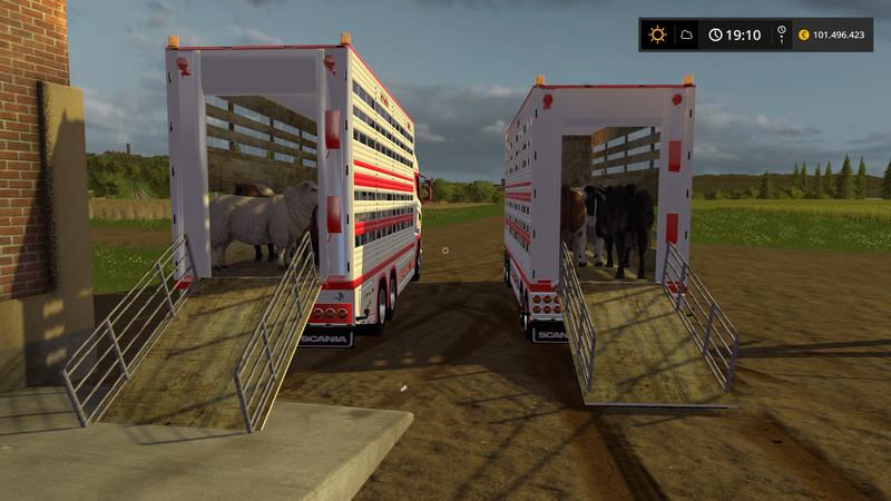 Scania R730 animal transports V 2 2 FS17 - Farming Simulator 17 mod
