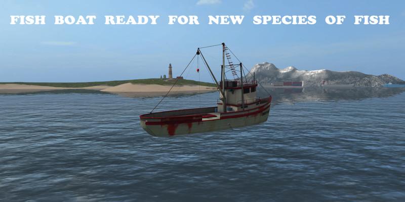 Fish Boat New V 1 2 FS17 - Farming Simulator 17 mod / FS