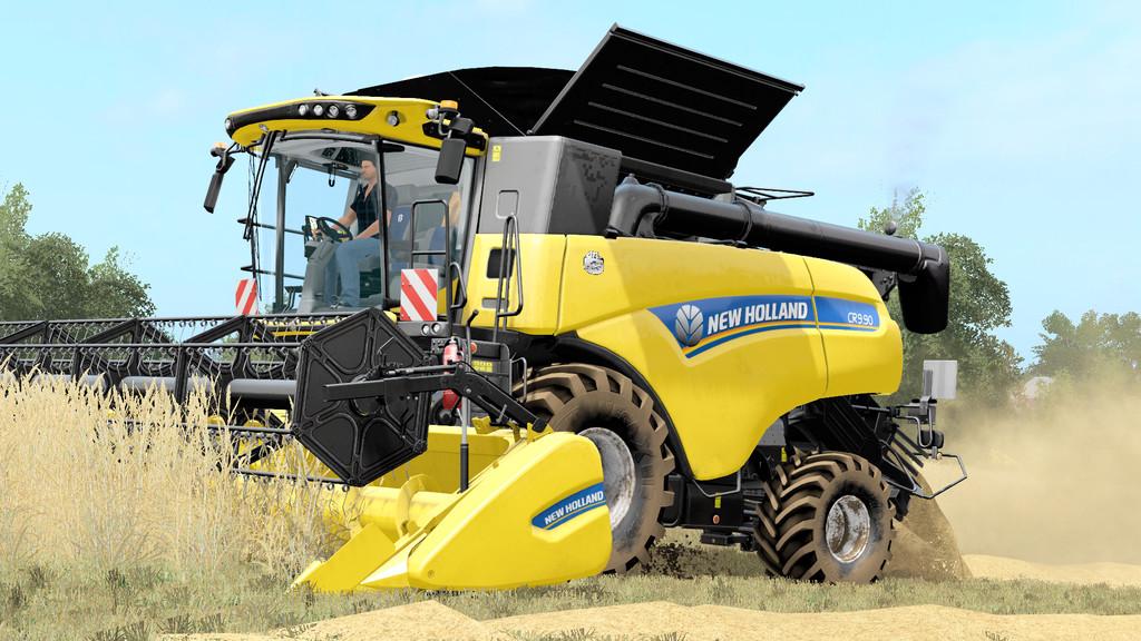 New Holland Header 25FT / HS8 V 1 0 FS17 - Farming Simulator 17 mod