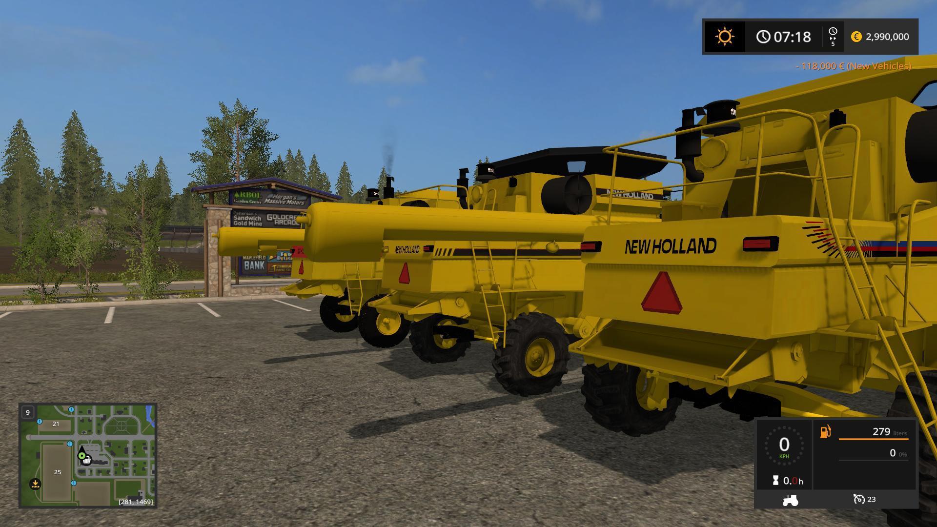 3 NEW HOLLAND TR HARVESTERS V1.0 FS17 - Farming Simulator 17 mod / FS 2017 mod