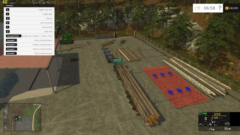 FLIEGL TIMBER RUNNER WIDE WITH AUTOLOAD V1 1 FS17 - Farming