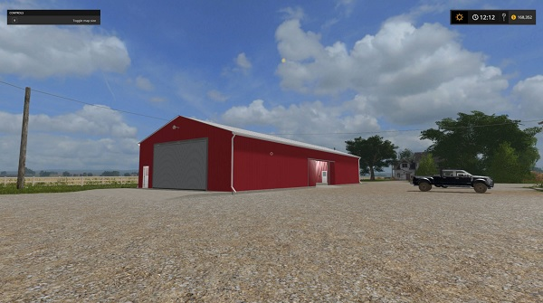 Red Siding Machine Shed 100x50 Functional V 1 0 Fs17